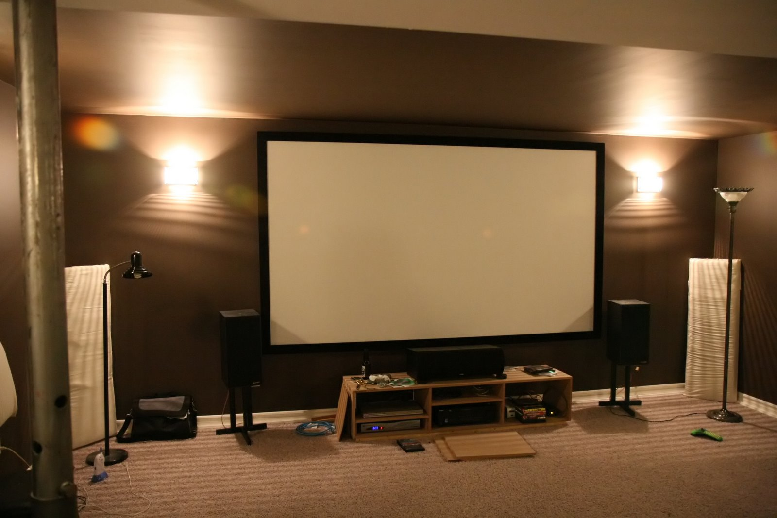 Diy Entertainment Unit For Under Projector Screen
